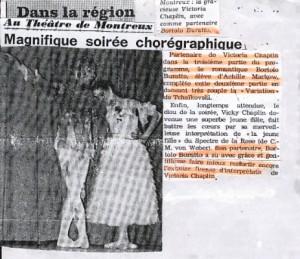 Bortolo Buratto e Victoria Chaplin nello Spettro della Rosa. Coreografia M.Fokine